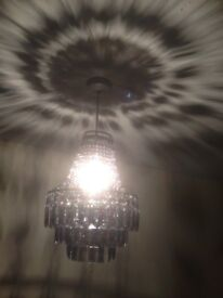 Pair of Lovely Grey Chandelier Light Shades