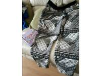 Black and white trousers size 16
