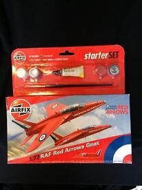 Red Arrows Gnat Air fix Starter Set