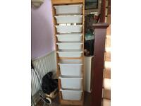 Ikea Trofast tall unit. Wooden with white drawers