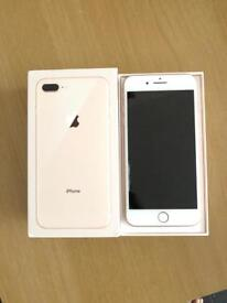 IPhone 8 Plus 256gb Vodafone lebara talk mobile. Boxed. Gold and space grey