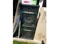 Large speakers 100w with carry handles
