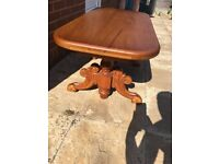 Solid oak hand carved coffee table