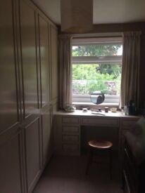 Built in wardrobe and dressing table, already disassembled and ready to go.