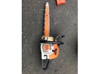 Stihl ms211 chainsaw with carving bar