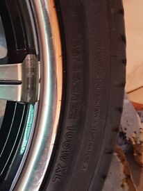 22inch wolf race alloys with tyres very good condition fits Mitsubishi 4x4s £850 ono