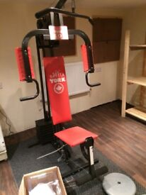Multigym and bench with weights £60