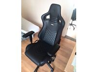 Noblechairs EPIC Black Luxury Gaming Chair Noble DXRACER Vertagear Big Tall Lounge Living Leather