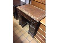 Small leather top desk