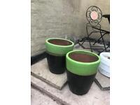 X2 garden plant pots