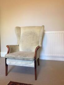 Parker Knoll wing back armchair
