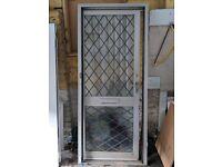 Aluminum Glazed Lead Diamond Door and frame with Locks and Keys