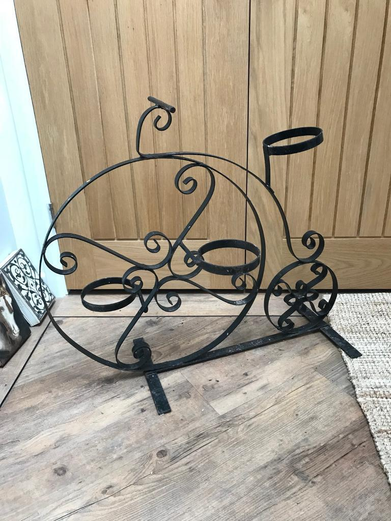 Large Metal Bike Planter