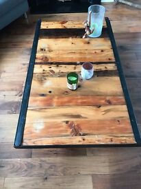 Custom Cast Iron and Wooden Table [Rare]