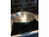 Large Mixing Bowl with Hand Whisk