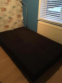 Beco suede sofabed in black