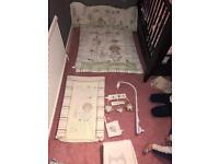 Olive and Henri nursery set cot