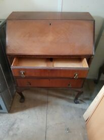 Antique style writing bureau