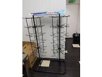 Double Balloon stand product display for retail double rotating display black finishing