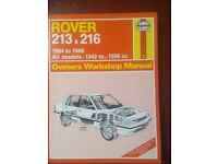 manual rover car manual