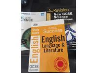 GCSE revision guides x3