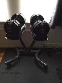 BODYMAX 5KG - 32.5KG SELECTABLE DUMBELLS AND STAND
