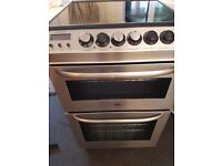 Zanussi Electrolux double electric oven and glass hob.Freestanding double oven cooker. Delivery