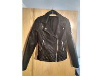 Leather Jacket (Faux) Miss Selfridge