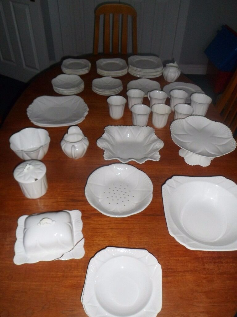 Beautiful Shelley Dainty China 56 Piece Setin Brighouse, West YorkshireGumtree - Beautiful Antique Shelley Dainty China, 56 Piece Set previously owned by my great grandmother, grandmother and mother. Most of the pieces are in excellent condition but a few have issues which are listed below. Here is a list of all the pieces....