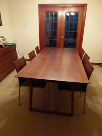 SKOVBY #38 Dining Table with matching chairs