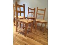 Dining chairs x 4. Perfect for upcycling