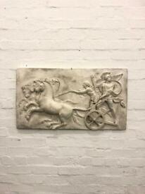 Large plaster of paris relief of Alexander the Great antique vintage bust