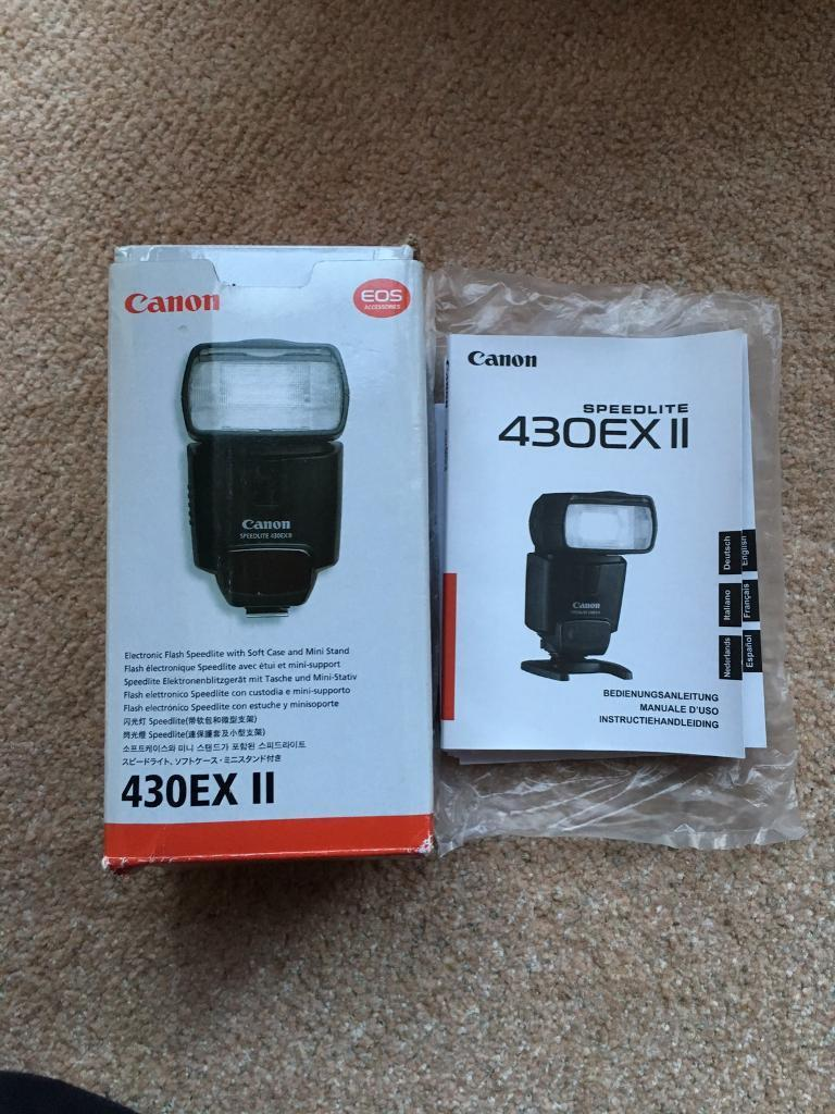 Canon Speedlite ex430 ii flash gun