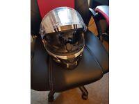 Helmet with anti fog and sun visor