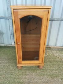 A Slender Tall Solid Pine TV Cabinet