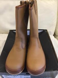 ***MENS JALLATTE RIGGER BOOTS - SIZE 8 BRAND NEW - BOXED***