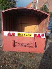 Medium sized covered trailer
