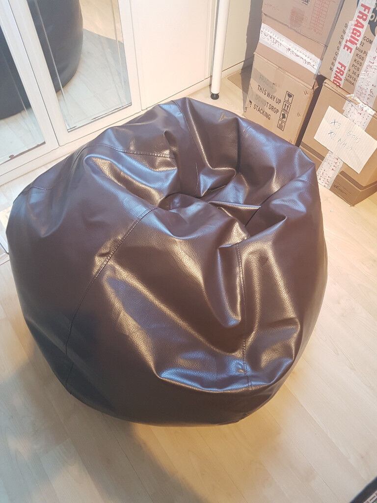 Surprising Brown Faux Leather Bean Bag Sofa In Ilford London Gumtree Pabps2019 Chair Design Images Pabps2019Com