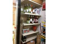 Retail shop grocery / drinks display shelf
