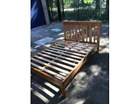 Lovely solid wood bed & mattress for sale