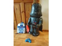 Darth vader remote controll inflatable and r2d2 rucksack