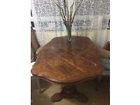True mahogany wood high quality table + 4 chairs