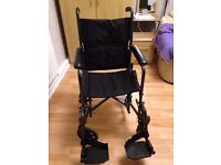 Easy to use foldable, lightweight wheelchair