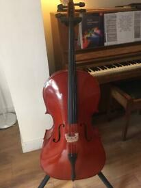 Cello 4/4 labelled Gear4music