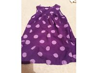 Purplr spotty pinafore dress
