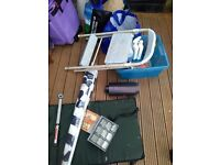 FREE..fishing mat,parasole,cleaning fluids,torque wrench,nail box,Stool,Drill, plastic roll ,FREE