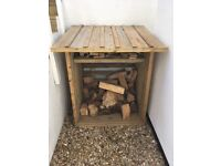 Handmade log store less than a year old