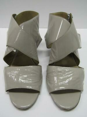Chloe CH10151 Chic Kid Open Toe Patent Strappy Sandals Shoes Gray Womens Lady 8 Lady Open Toe Strappy Sandal