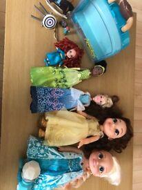Disney Princess Doll Collection (Belle, Cinderella, Merida, Tiana)