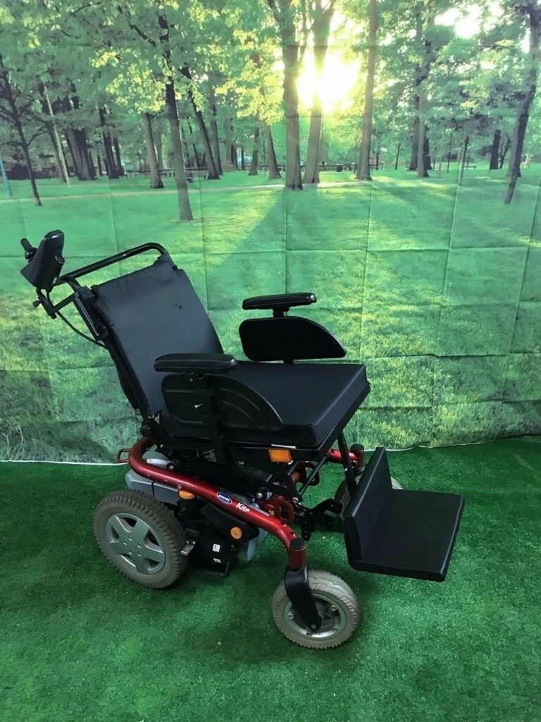 2012 Invacare Kite Attendant Powerchair 4mph in Red with Electric Tilt